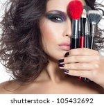 portrait of attractive ... | Shutterstock . vector #105432692