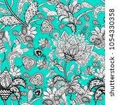 scenic flower pattern. top view ... | Shutterstock .eps vector #1054330358