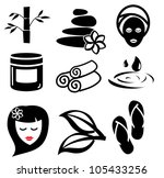 spa icons | Shutterstock .eps vector #105433256