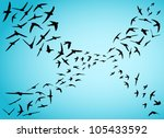 illustration with swifts... | Shutterstock .eps vector #105433592