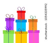 christmas or birthday gift... | Shutterstock .eps vector #1054335992