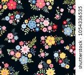 lovely ditsy floral pattern... | Shutterstock .eps vector #1054336535