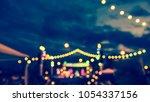 vintage tone blur image of food ... | Shutterstock . vector #1054337156