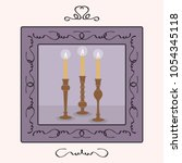 candlesticks holders set with... | Shutterstock .eps vector #1054345118