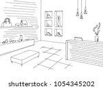 shoe shop store graphic black... | Shutterstock .eps vector #1054345202