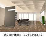 spacious and comfortable... | Shutterstock .eps vector #1054346642