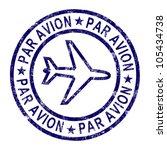 par avion stamp showing...   Shutterstock . vector #105434738