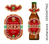 beer label template with neck... | Shutterstock .eps vector #1054347962