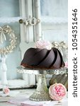 Small photo of Cake Stand,Cake Stand With Cake On The Table,Pink Rose