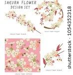 japanese sakura festival. new... | Shutterstock .eps vector #1054352318
