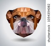 abstract polygonal tirangle... | Shutterstock .eps vector #1054354082