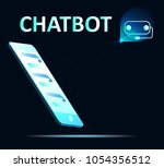 chat bot and future marketing... | Shutterstock .eps vector #1054356512