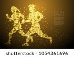 abstract shiny star pattern man ... | Shutterstock .eps vector #1054361696