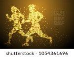 abstract shiny star pattern man ... | Shutterstock .eps vector #1054361696