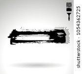 black brush stroke and texture. ...   Shutterstock .eps vector #1054362725
