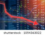 capital loss and stock... | Shutterstock . vector #1054363022