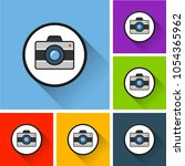 illustration of camera icons... | Shutterstock .eps vector #1054365962