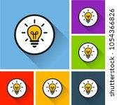 illustration of light bulb... | Shutterstock .eps vector #1054366826