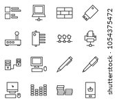 flat vector icon set   comments ... | Shutterstock .eps vector #1054375472