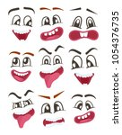 smiley faces with different... | Shutterstock . vector #1054376735