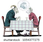 stock illustration. people in... | Shutterstock .eps vector #1054377275