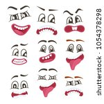 funny smileys faces isolated... | Shutterstock . vector #1054378298