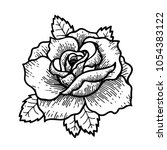 tattoo rose flower.tattoo ... | Shutterstock .eps vector #1054383122