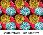 textile fashion african print... | Shutterstock .eps vector #1054386995