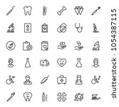 orthodontic icon set.... | Shutterstock .eps vector #1054387115