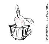 easter vector illustration with ... | Shutterstock .eps vector #1054397852