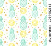 pineapple fruits seamless... | Shutterstock .eps vector #1054402568