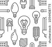 light bulbs seamless pattern... | Shutterstock .eps vector #1054408775