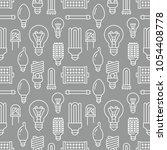 light bulbs seamless pattern...   Shutterstock .eps vector #1054408778