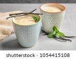 vanilla pudding  sticks and...   Shutterstock . vector #1054415108