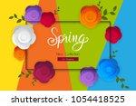 spring flower sale promotion... | Shutterstock .eps vector #1054418525