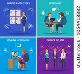 recruitment hiring hunting hr... | Shutterstock .eps vector #1054418882