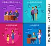 children parents parenthood 2x2 ... | Shutterstock .eps vector #1054418888