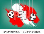 banner the inscription peru and ... | Shutterstock .eps vector #1054419806
