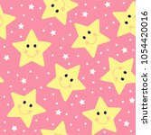 seamless colorful star pattern... | Shutterstock .eps vector #1054420016