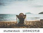 summer beach vacation concept ... | Shutterstock . vector #1054421918