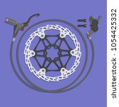 full set of bicycle hydraulic... | Shutterstock .eps vector #1054425332