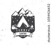summer camping badge. vector... | Shutterstock .eps vector #1054426652