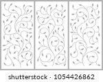 flower ornament for a cabinet ...   Shutterstock .eps vector #1054426862