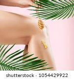 legs depilation by honey or... | Shutterstock . vector #1054429922