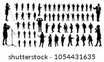 talking people silhouettes   Shutterstock .eps vector #1054431635