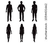 set vector silhouettes men and... | Shutterstock .eps vector #1054431662