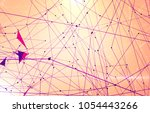 abstract background polygonal.... | Shutterstock . vector #1054443266