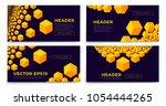 vector set of blockchain banner ... | Shutterstock .eps vector #1054444265