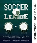 soccer league poster design... | Shutterstock .eps vector #1054446602