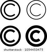 copyright icon  copyright... | Shutterstock .eps vector #1054453475